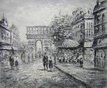 obrazy, reprodukce, Černobílá Paříž