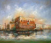 obrazy, reprodukce, Gondola na moři
