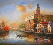 obrazy, reprodukce, Benátky při úsvitu