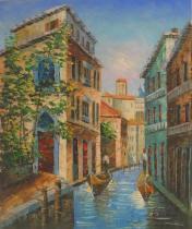 obrazy, reprodukce, Ve stylu Benátských ulic