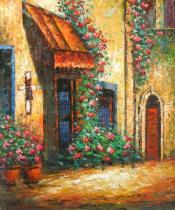 obrazy, reprodukce, Ulica plná kvetov