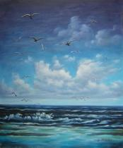 Moře a lodě - Moře, obrazy ručně malované