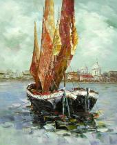 Moře a lodě - Plachetnice, obrazy ručně malované