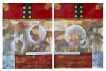 Obrazové sety - Abstrakce touha, obrazy ručně malované