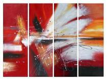 Obrazové sety - Abstrakce křídla holubic, obrazy ručně malované
