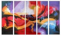 Obrazové sety - Abstrakce poznání, obrazy ručně malované