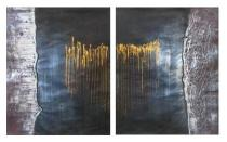 Obrazové sety - Zlaté nitky, obrazy ručně malované