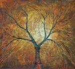 obrazy, reprodukce, Strom v podzimu