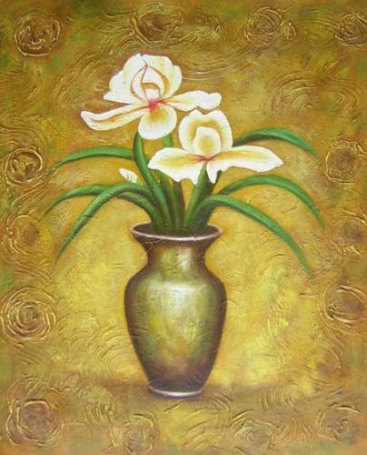 obraz Váza s dvěma květy