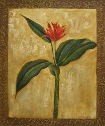 obraz Kytice s červeným květem