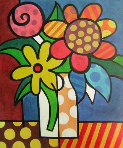 obraz Krásné květy v láhvi