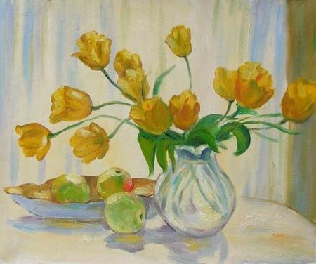 obraz Uvadlé žluté květy