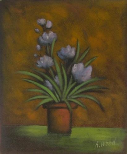 obraz Fialový květ