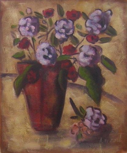 obraz Červeno fialové květy