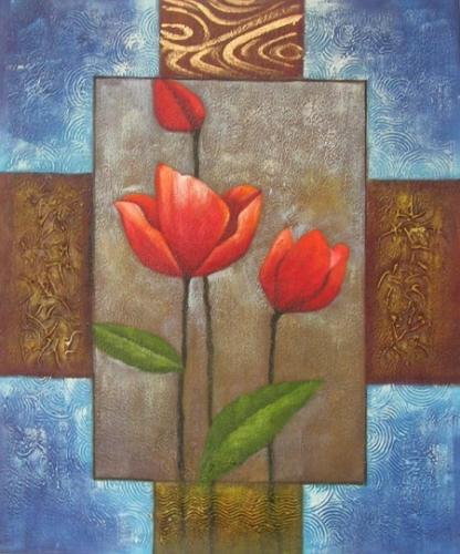 obraz Život tulipánů