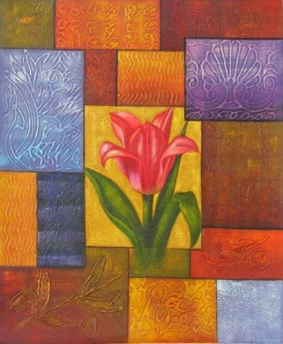 obraz Květ v tvarech