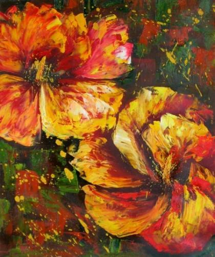 obraz Rozmazané květy
