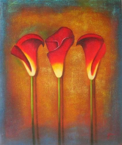obraz Tři zavité květy