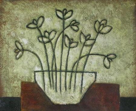 obraz Obrysy květin