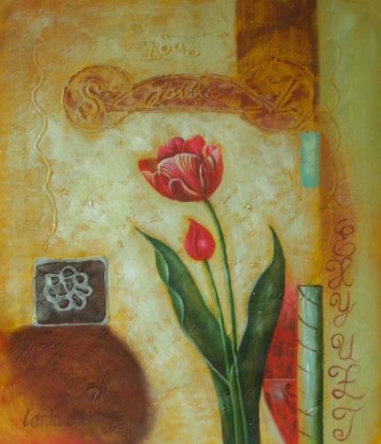 obraz Osamělý tulipán