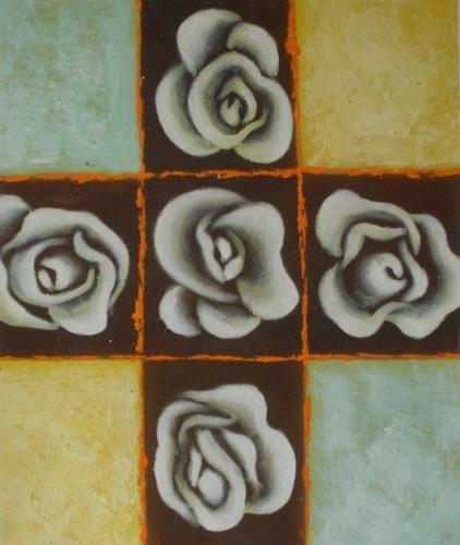 obraz Pět květů růže