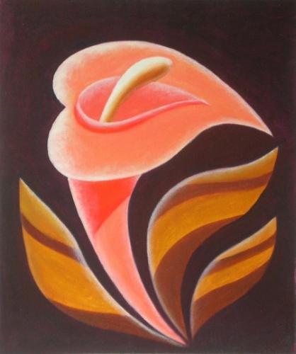 obraz Oranžový květ
