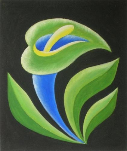 obraz Zelenomodrý květ