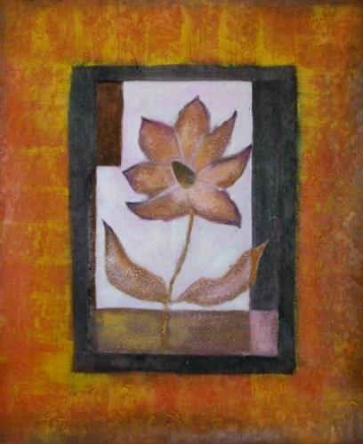 obraz Hnědý květ