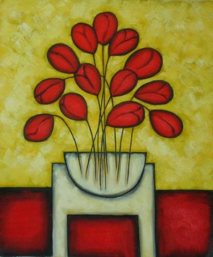 obraz Červené srdce