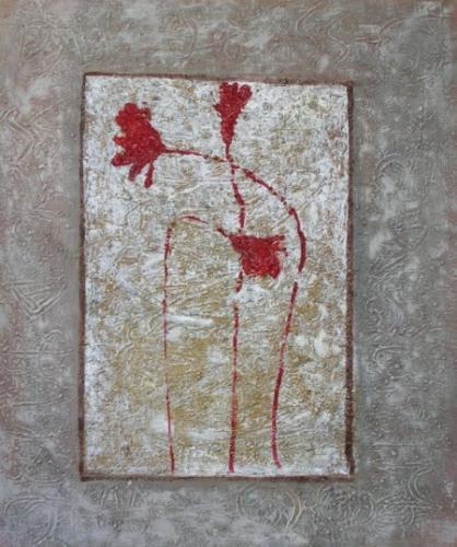 obraz Květy ve stříbře