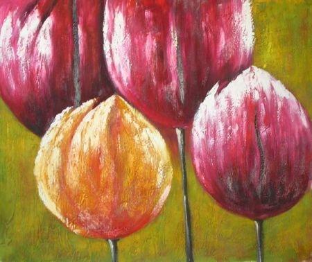 obraz Čtyři tulipány