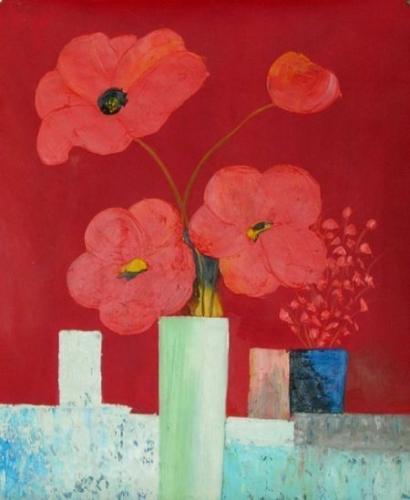obraz Kytice červených květů