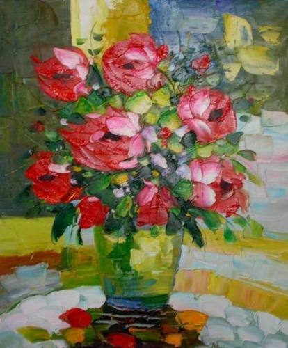obraz Kytice rudých květů