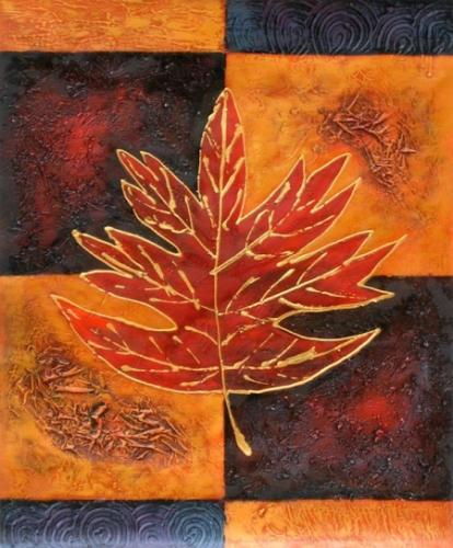 obraz Podzimní list