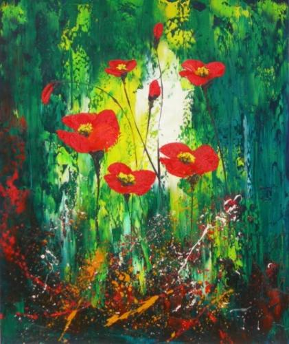 obraz Květy v pralese