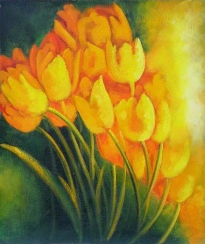 obraz Žluté tulipány