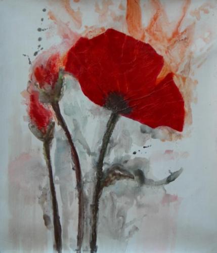 obraz Krvaví květ