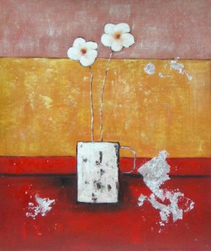 obraz Dva bílé květy