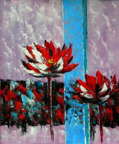 obraz Abstraktní květiny