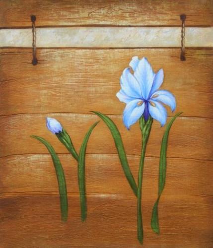 obraz Dva modré květy