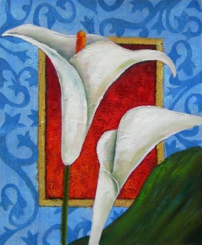 obraz Bílé kalichy