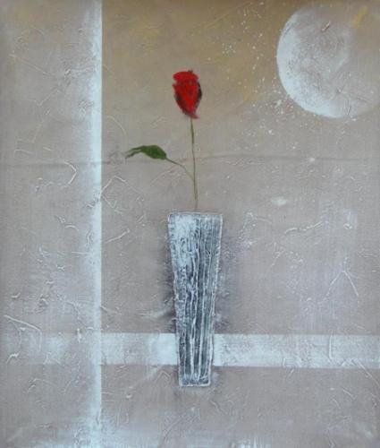 obraz Samotný květ