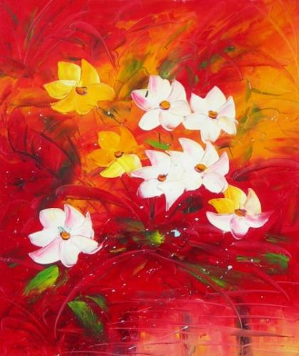 obraz Bíložluté květy