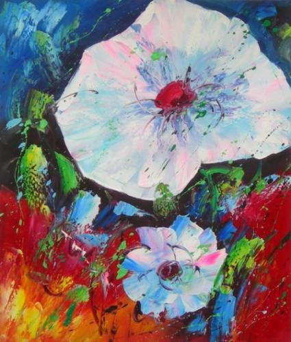 obraz Vodní květy