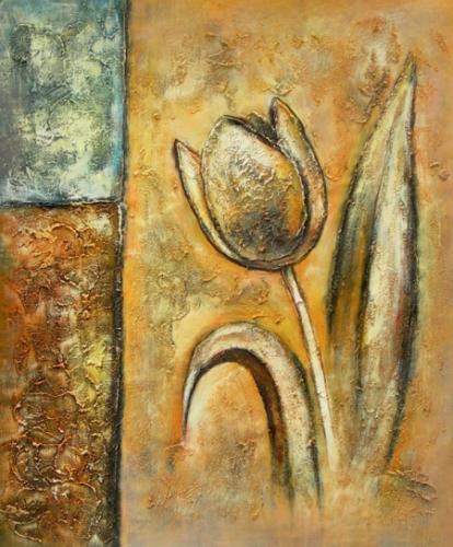 obraz Tulipán na stěně