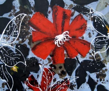 obraz Listový květ