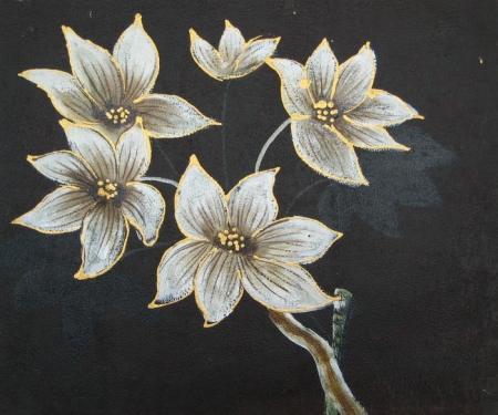obraz Pět bílých květů