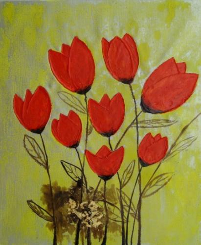 obraz Hrst tulipánů