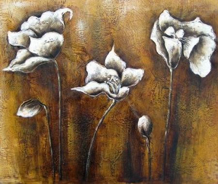 obraz Tři bílé květy