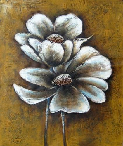 obraz Rozkvetlý bílý květ